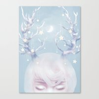 antlers Canvas Prints featuring Antlers by Pastellish