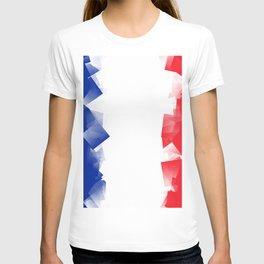France Flag Cubic T-shirt