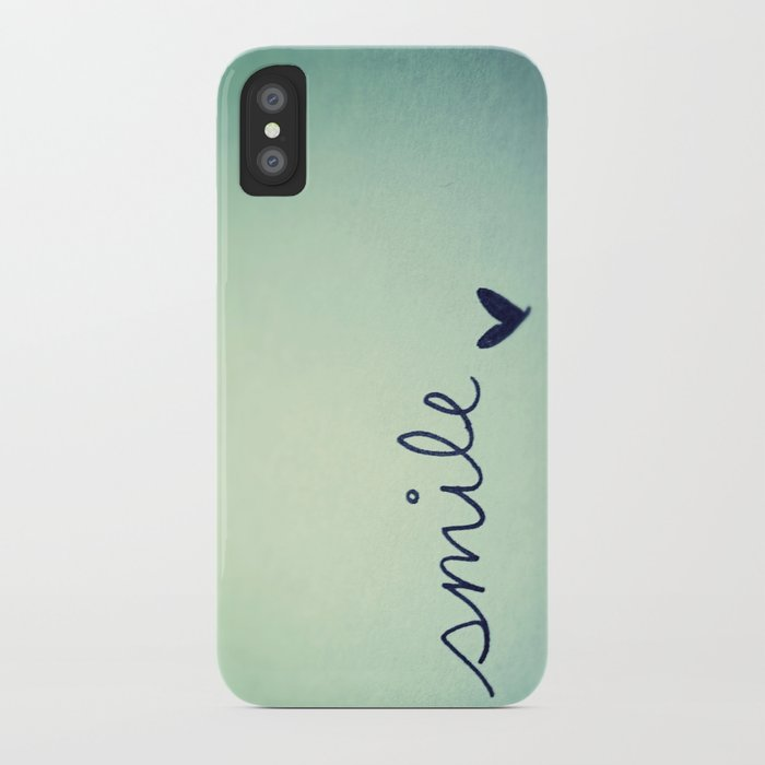 s  m  i  l  e  iPhone Case