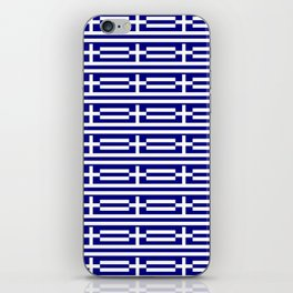 flag of greece 2-Greece,flag of greece,greek,Athens,Thessaloniki,Patras,philosophy,theater,tragedy iPhone Skin