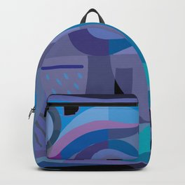 Blue Fish Swimming Backpack