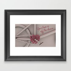 Your love is off the chain Framed Art Print