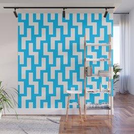 Tukutuku Family - kea blue mid Wall Mural
