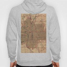 Vintage Map of Wichita Kansas (1943) Hoody