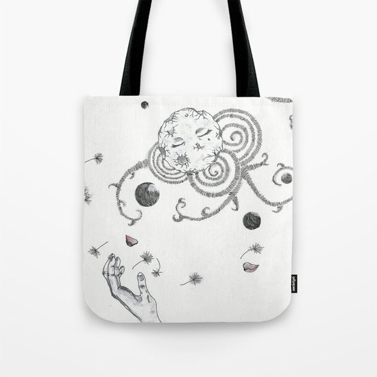 with Eyes closed Tote Bag