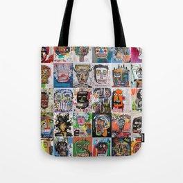 Basquiat Faces Montage Tote Bag