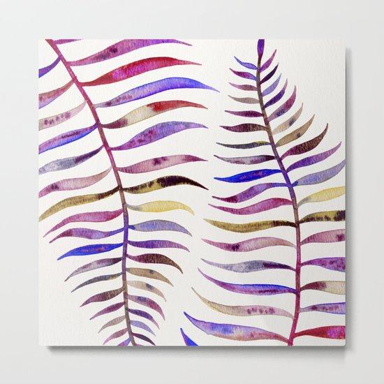 Magenta Palm Leaf Metal Print