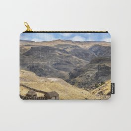 Little peasant hut in mountains Carry-All Pouch