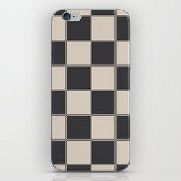 Traditional Checkerboard, Ecru-Beige and Chocolate-Deep Brown iPhone Skin