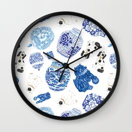 Chinoiserie Curiosity Cabinet Toss 2 Wall Clock