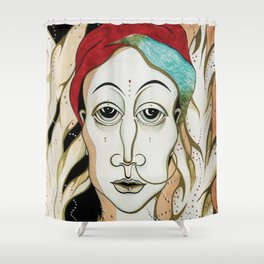 Angel Aiya Channeled Painting Sacred Art High Frequencies Shower Curtain
