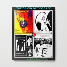 THE ORIGIN OF TIGER LEE ... book poster Metal Print