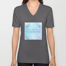 The lunatic, the lover - Midsummer Night Shakespeare Love Quote Unisex V-Neck