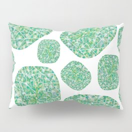 Green Cushion Gem Pattern Pillow Sham