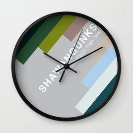 The colors of climbing spots - SHAWANGUNKS Wall Clock