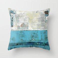 Fairbanks Abstract Light Blue White Throw Pillow