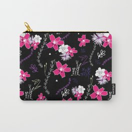 Petite Pink Floral Winter Collection Carry-All Pouch