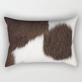 Brown and White Cowhide, Cow Skin Pattern, Farmhouse Decor Rectangular Pillow