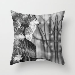 Wolf Pack Throw Pillow
