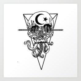 Tentaskull. Art Print