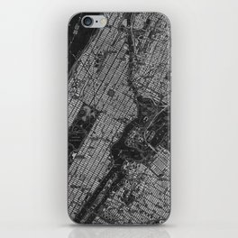 Central Park New York 1947 vintage old map for office decoration iPhone Skin