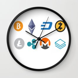 Cryptocurrencies Wall Clock