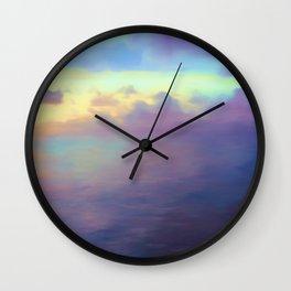 Atmospheric Seascape Wall Clock