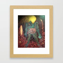 Warrior With His Two Shadows Framed Art Print