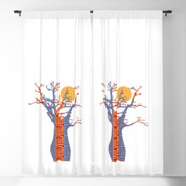 African Baobab tree of life at Sunset Blackout Curtain