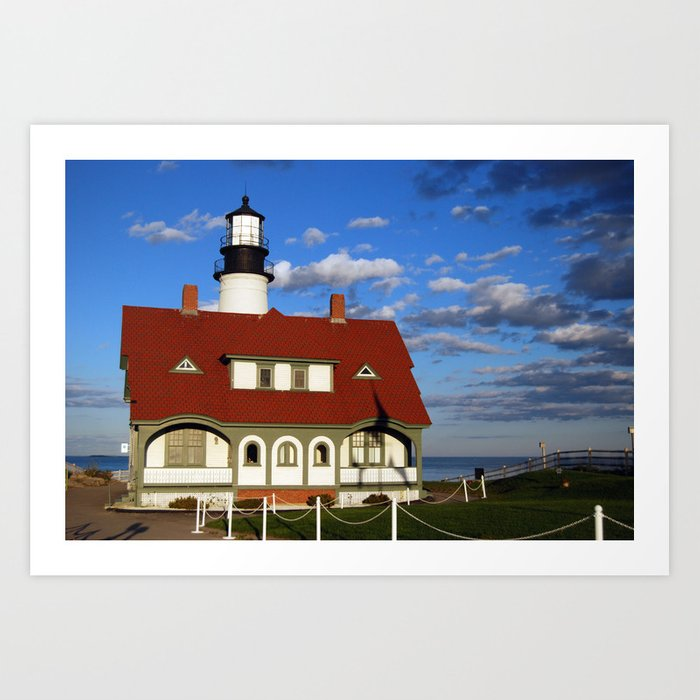 Portland Head Light 01 Art Print