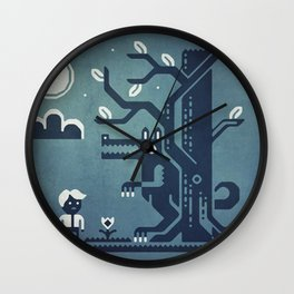 Midnight Menace Wall Clock