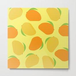 Mango Pattern Metal Print