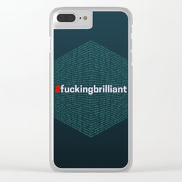 # fucking brilliant Clear iPhone Case