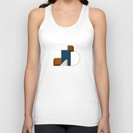 Abstrato 02 // Abstract Geometry Minimalist Illustration Unisex Tank Top