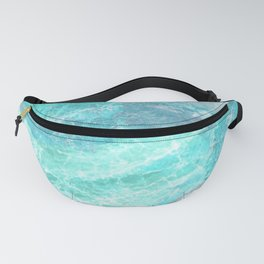 Marble Turquoise Blue Agate Fanny Pack