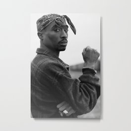 Tup-ac Shakur 2-Pac Rap Music Rapper Star Metal Print
