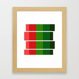 Christmas color bar Framed Art Print