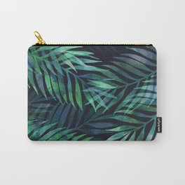 Dark green palms leaves pattern Carry-All Pouch