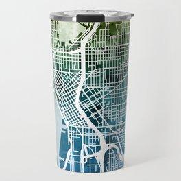 Seattle Washington Street Map Travel Mug