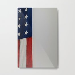 Side Flag (Color) Metal Print
