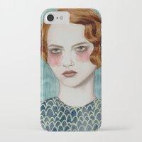 woman iPhone & iPod Cases featuring Sasha by Sofia Bonati