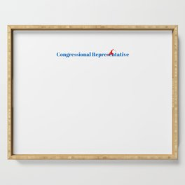 Top Congressional Representative Serving Tray