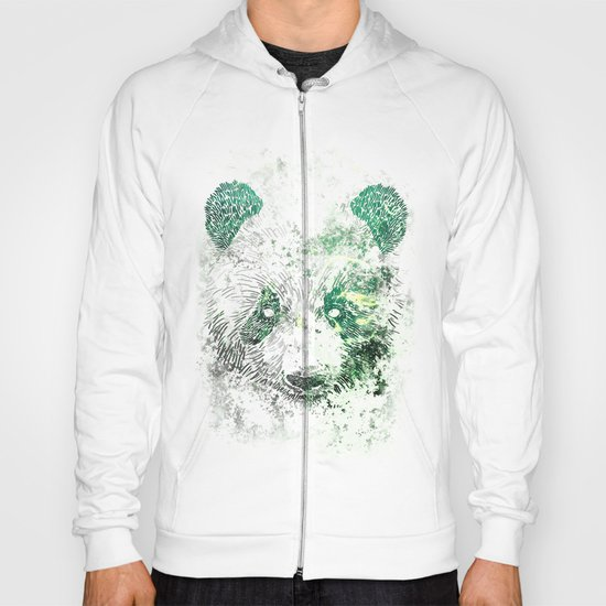 Green Panda Bear Hoody