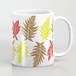 Inked Ferns – Autumn Palette Coffee Mug