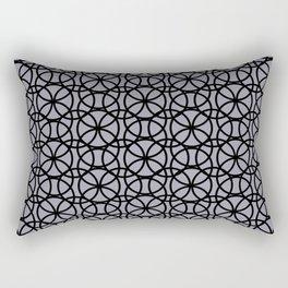 Pantone Lilac Gray and Black Rings Circle Heaven, Overlapping Ring Design Rectangular Pillow