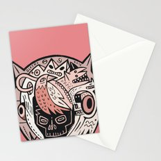 Bubble Head - pink Stationery Cards