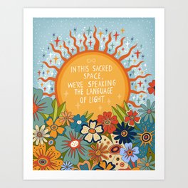 The language of light Art Print
