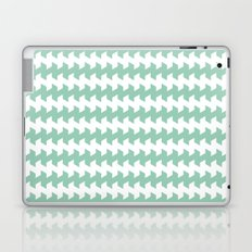 jaggered and staggered in grayed jade Laptop & iPad Skin