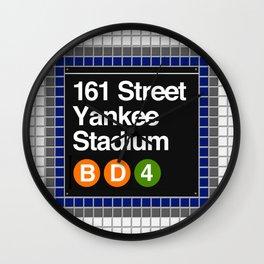 subway yankee stadium sign Wall Clock
