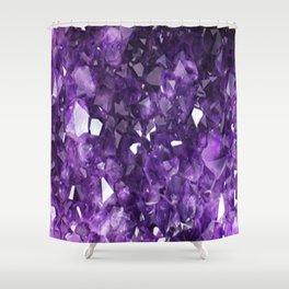 FEBRUARY PURPLE AMETHYST CRYSTALS BIRTHSTONE Shower Curtain